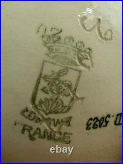 Bel Ancien Vase Ovoide Art Déco En Emaux De Longwy