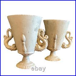 Belle paire de vases Art Deco à lantique. MOREUX NATANSON ANDROUSOV ARBUS FRANK