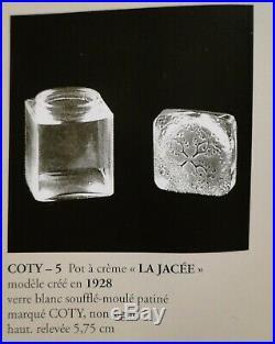 Boîte A Crême La Jacee Pour Coty Rene Lalique Art Deco 1928 No Vase