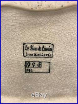 Buste Les Bleus Emaux de la Louvière Boch Art Déco Nouveau années 20 DLG Longwy