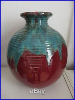CAB Très grand vase ART DÉCO signé GÈTE (BORDEAUX)