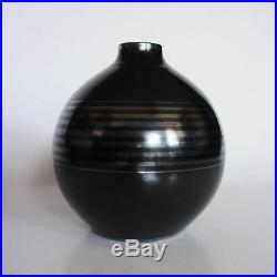 CHARLES CATTEAU BOCH LA LOUVIERE vase boule art déco vers 1930