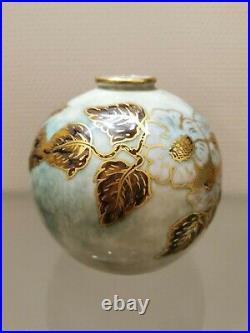 Camille THARAUD (1878-1956) Limoges vase boule Art Déco porcelaine Vert de Jade