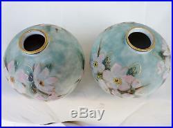 Camille Tharaud Limoges Paire De Vases Boule Emaux Art Deco Vase Emailles