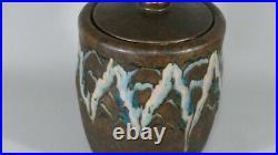 Camille Tharaud, Vase Couvert, Porcelaine émaillée Art Déco, Vers 1925