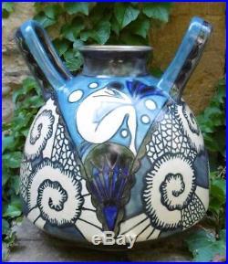 Ceramique Art Deco Important Vase 1925's Quimper ODETTA
