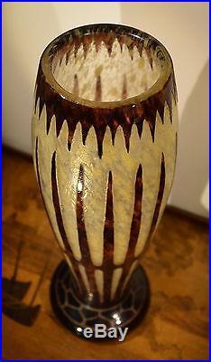 Ch. Schneider Le Verre Français Grand Vase Art Déco 1920
