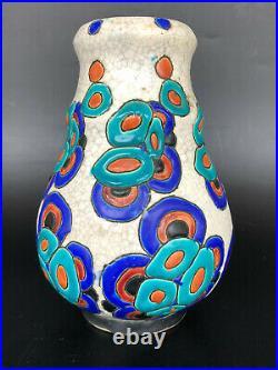 Charles Catteau Boch Freres La Louviere Ancien Petit Vase Art Deco D 946
