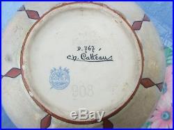 Charles Catteau, Kéramis, Boch frére belgique paire de Vase D767, Art Deco 1923