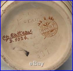 Charles Catteau, vase Keramis en grès art deco