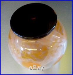 Charles SCHNEIDER CHARDER Le verre français vase art deco signé