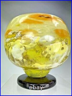 Charles Schneider Superbe Vase Sur Pied Art Deco (1924-1933) Decor Jades Tbe