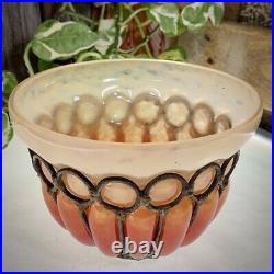 Coupe vase en pâte de verre et fer forgé signée Schneider