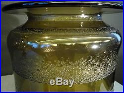 DAUM NANCY Enorme vase art deco gravé à l'acide H32,5cm gallé lalique