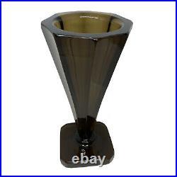 DAUM NANCY FRANCE Vase ancien Art Deco Design 1930 Verre Cristal Fumé
