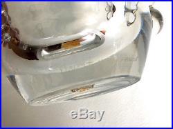 DAUM Vase à ailettes en cristal style moderniste / Art déco / Ca 1920-1930