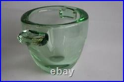 DAUM Vase vert Art déco (35729)