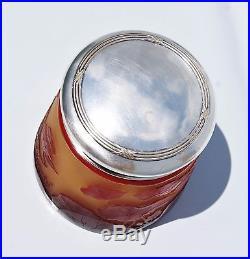 D'ARGENTAL Paul Nicolas vase Boite Bonbonnière Pâte de Verre Gravé Art Déco