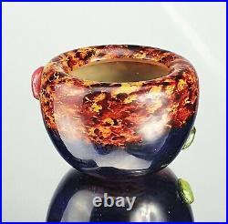 Daum Nancy Précieux Vase Cabochons & Inclusions d'Or Pâte de Verre Art Déco