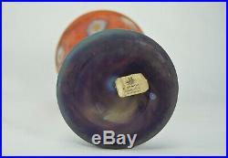 Daum Nancy Rare Vase à Décor Intercalaire de Corolles Verre Art Déco Signé