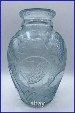 Daum Nancy-Vase art deco-profondement dégagé acide, gallé, muller, schneider, argy