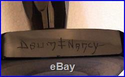 Daum Nancy Vase cristal fumé 28 cm d'époque Art-Déco signé