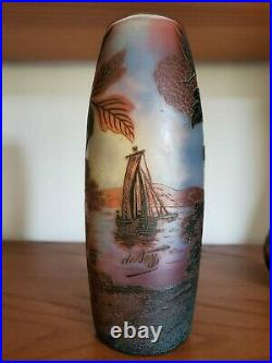 Devez vase Pâte De Verre Art Deco