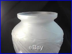 ETLING Vase aux oiseaux en verre Art Déco