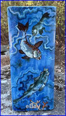 Edmond Lachenal (1855-1948) Vase En Céramique De Style Japonisant Art Déco