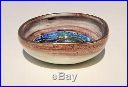 Edouard CAZAUX Sublime Vase Coupe Signée en Céramique émaillée Art Déco