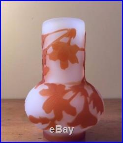Emile Gallé Vase bulbe dégagé à lacide Art Déco 1910