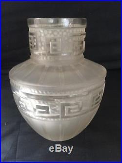 Etling France, rare vase Art Deco modèle Tateos