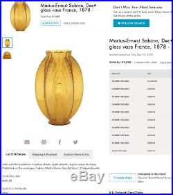 Exceptionnel gros vase art-deco 24 pirogues par Sabino, era daum galle lalique