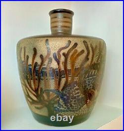 Extraordinaire vase ART DECO Ateliers PRIMAVERA à Sainte RADEGONDE, MODERNISTE