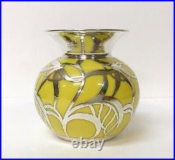 Friedrich Wilhelm Spahr/Vase En Porcelaine Overlay/Furstenberg/Argent/Art-Déco