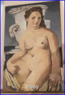 GRAND Tableau NUE et VASE A L'ANTIQUE école de paris et Moderne cubisme