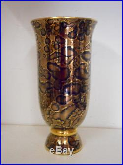 GRAND VASE ART DECO. MAZEAUD ET FAVEROT. 1925. SEVRES. Porcelaine, faience. H 36.5cm