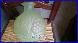 Grand Vase Art Deco En Verre Par Charles Catteau N° 2