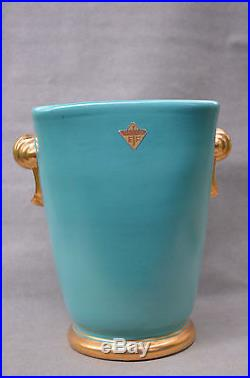 Grand Vase Art Deco Vers 1940 Par Elchinger A Soufflenheim Alsace
