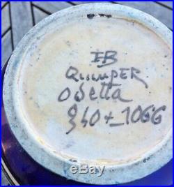 Grand Vase En Faience Quimper Odetta Decor Femmes Nues Art Déco 340+ 1066