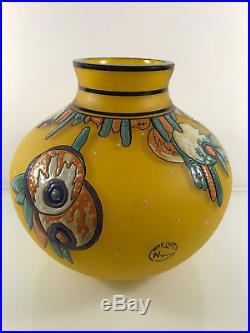 Grand Vase En Pate De Verre Art Nouveau Delatte Nancy