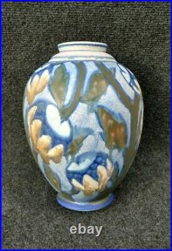 Grand Vase Gres De Revernay Digoin Sarreguemines Époque Art Deco