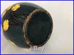 Grand Vase Signe Sispa Emile Simonod Savoyard Art Deco Terre Vernissee G371