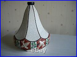 Grand Vase Toupie Art Deco En Emaux De Longwy