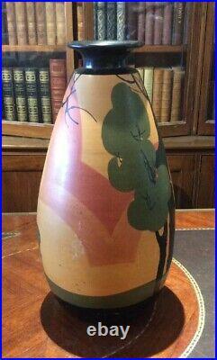 Grand Vase art déco Vallauris par Louis Giraud Hauteur 42cm