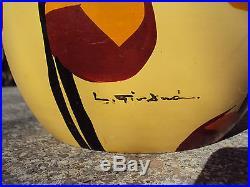 Grand vase 34 cm en céramique art-déco Vallauris signé L Giraud