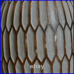 Grand vase Art Déco Grès J. Mougin Nancy N°162 J Décor géomètrique Africanisme