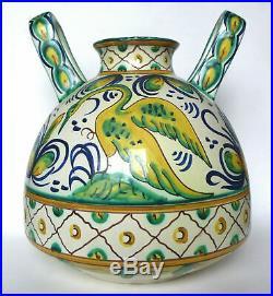 Grand vase Art Déco HB Quimper décors hispano-mauresques 1925