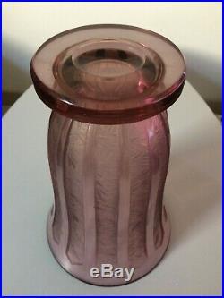 Grand vase Art Déco verre dégagé à l'acide Daum Schneider