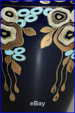 Grand vase Tango de Charles Catteau pour Keramis frères Boch Art Deco 1922